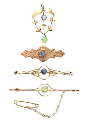 Lot 29-A selection of early 20th century jewellery