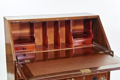 Lot 398 - Edwardian mahogany bureau