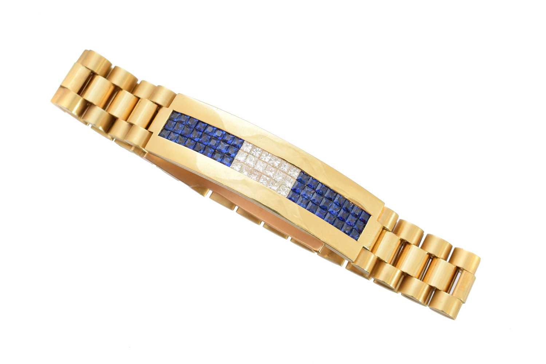 Lot 17-A diamond and sapphire bracelet