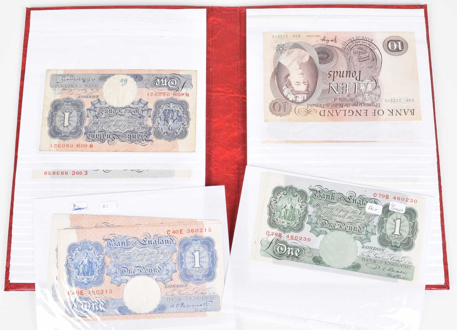 Lot 36-Selection of British banknotes from Ten Shillings to Ten Pounds (41).