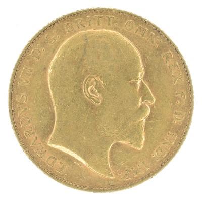 Lot 42-King Edward VII, Sovereign, 1907, London Mint.