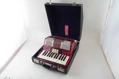 Lot 41-Bell piano accordion in case