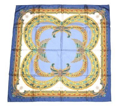 Lot 70 - A Must de Cartier 'L'Egypte' silk scarf