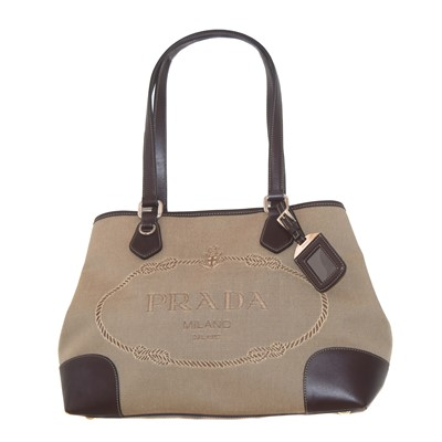 Lot 34-A Prada Jaquard Logo Tote bag