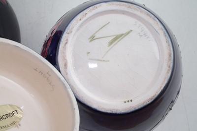 Lot 137 - Moorcroft ginger jar and two bowls