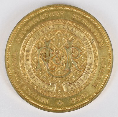 Lot 22-England, International Reformatory Exhibition, London, 1865, a gilt-bronze medal by J.S. Wyon.