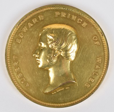 Lot 22-England, International Reformatory Exhibition, London, 1865, a gilt-bronze medal by J.S. Wyon.
