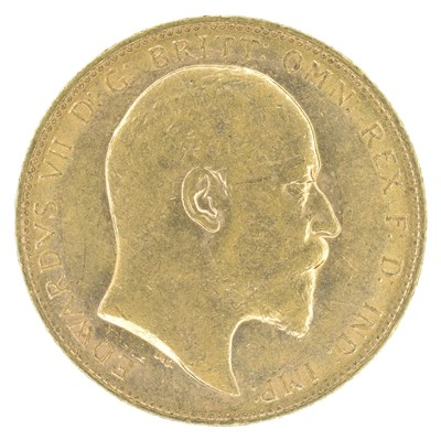 Lot 46-King Edward VII, Sovereign, 1904, London Mint.