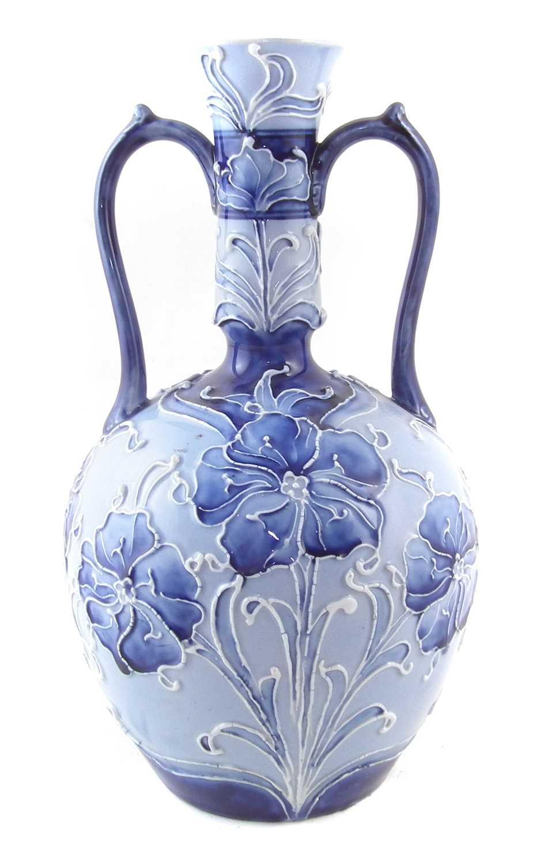 Lot 146 - Macintyre Moorcroft twin handled vase