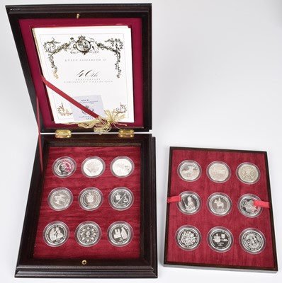 Lot 11-A Royal Mint Queen Elizabeth II 40th Anniversary Coronation Silver Proof Crown Collection