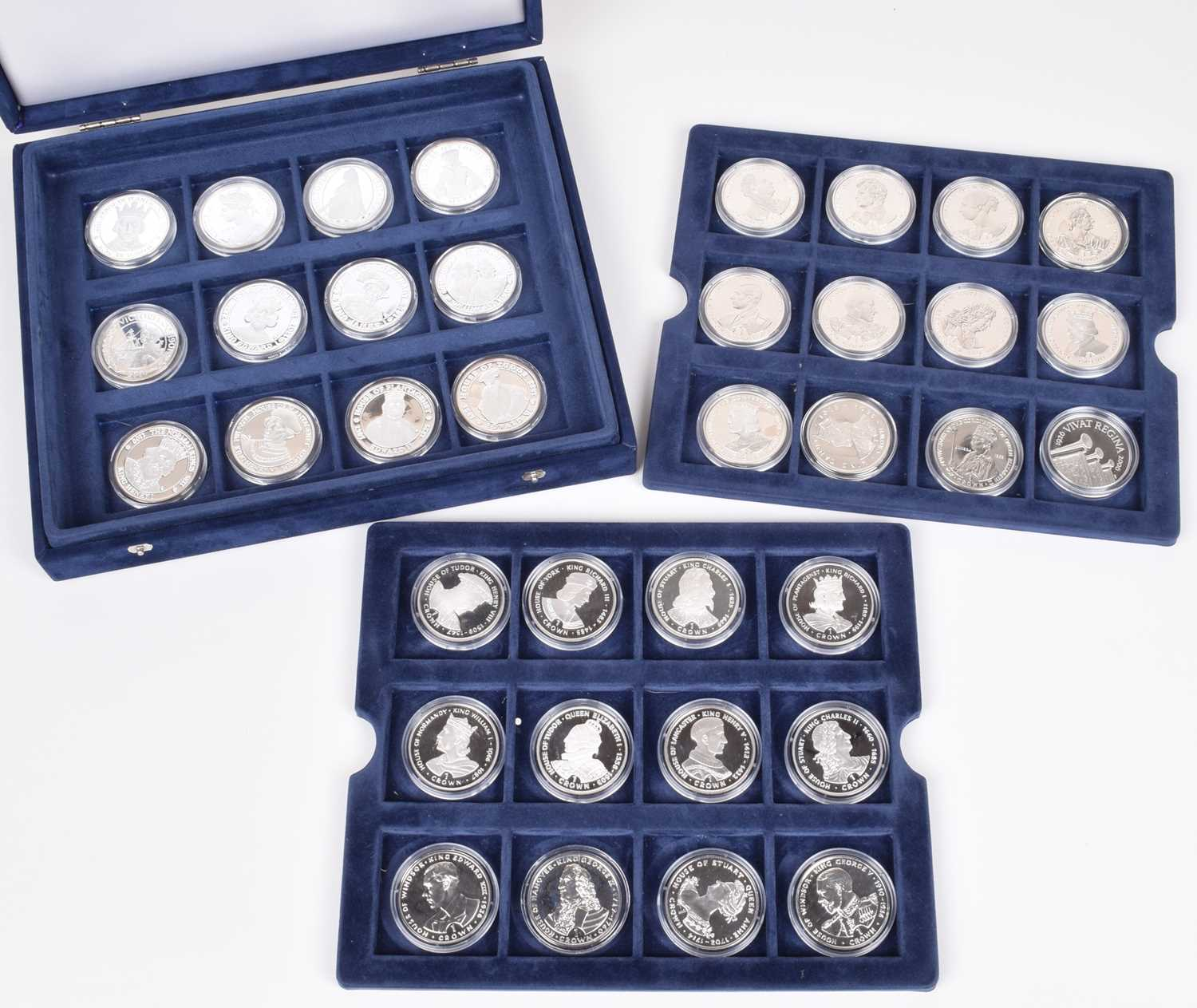 """Lot 12-A Westminster Mint """"Kings and Queens of Great Britain Coin Collection"""" and one other (36)."""