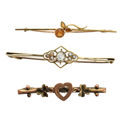 Lot 30-Three early 20th century brooches