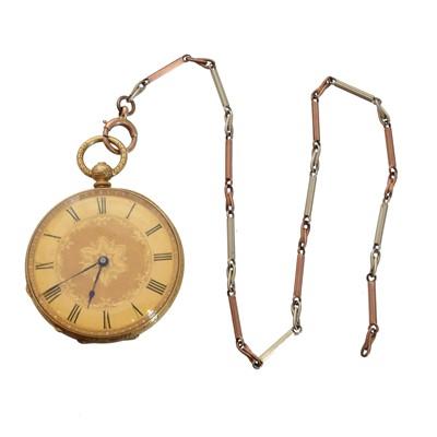 Lot 150 - An 18ct gold open face pocket watch