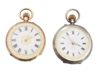 Lot 85 - Two fob watches