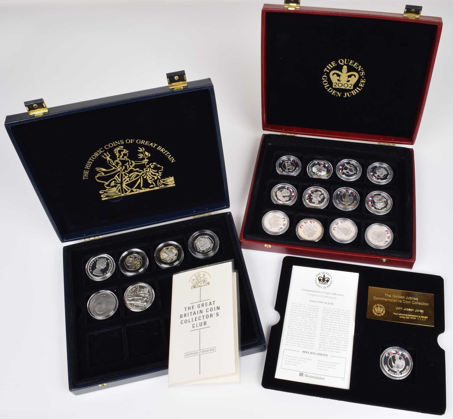 Lot 9-Two cased Westminster Mint coin sets (2).