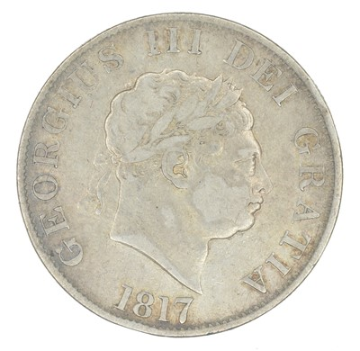 Lot 38-George III, Halfcrown, 1817, together with an assortment of other historical coinage.
