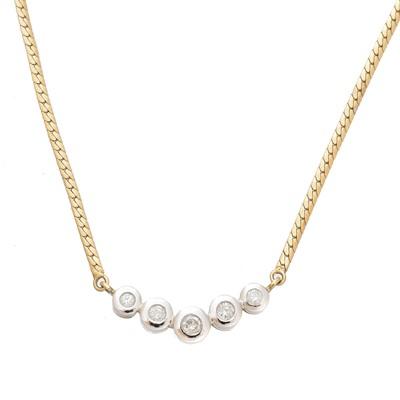 Lot 68 - A 9ct gold diamond necklace