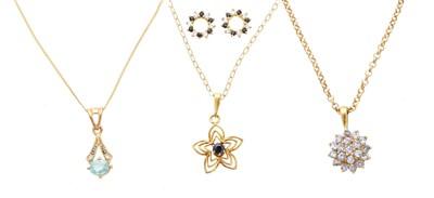 Lot 81 - Three gem-set pendants