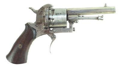 Lot 14-Belgian Pinfire revolver