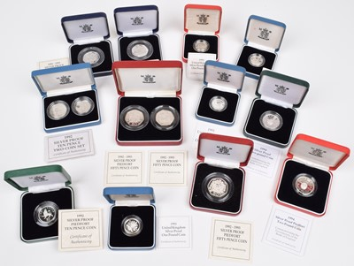 Lot 89 - Selection of United Kingdom Silver Proof Piedfort and Silver Proof Coins (12).