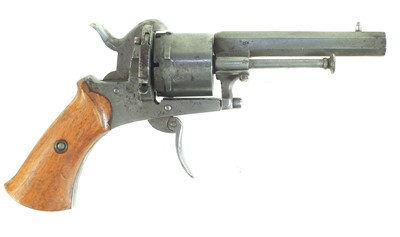 Lot 11-Belgian pinfire revolver