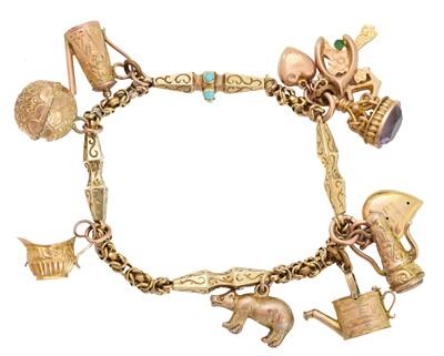 Lot 4 - A charm bracelet