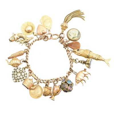 Lot 6 - A charm bracelet