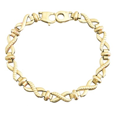 Lot 12-A 9ct gold bracelet