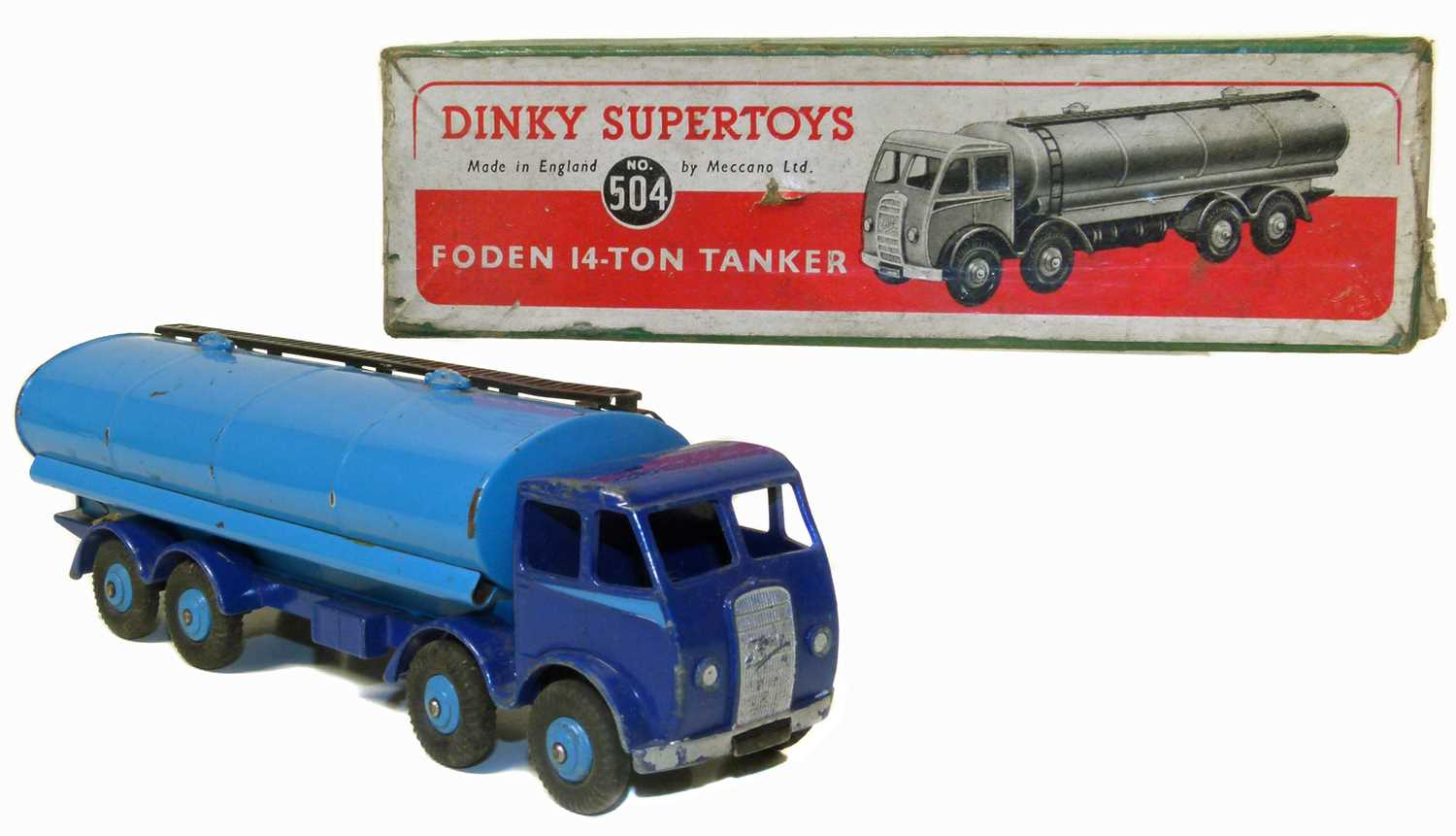 Lot 24-Dinky Supertoys, Foden 14-Ton tanker No. 504 with original box.
