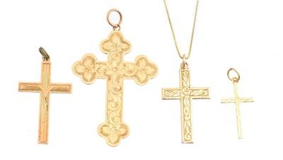 Lot 77 - Four cross pendants