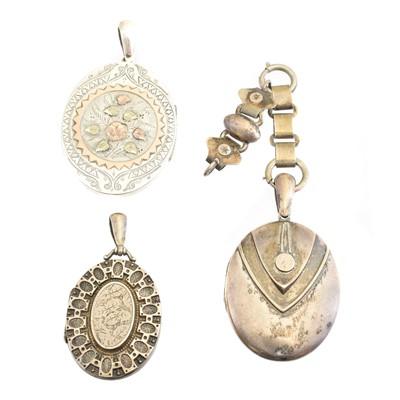 Lot 85 - Three Victorian silver lockets