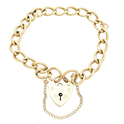 Lot 11 - A 9ct gold chain bracelet