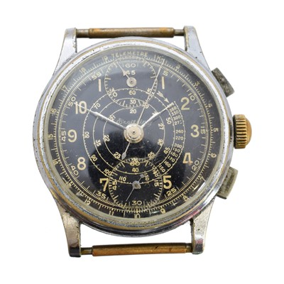 Lot 126 - A 1940s Breitling Telemetre Chronograph watch