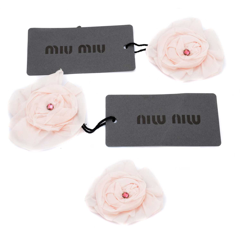 Lot 16-Three Miu Miu corsage brooches