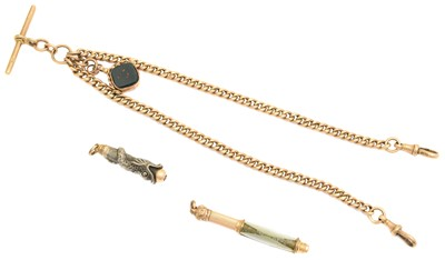 Lot 116 - A 9ct gold Albert chain