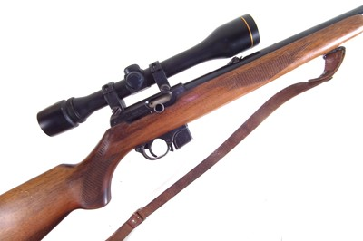 Lot -CZ Semi Auto .22lr rifle with scope and moderator