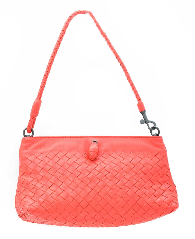 Lot 6-A Bottega Venetta Intrecciato Pochette Handbag