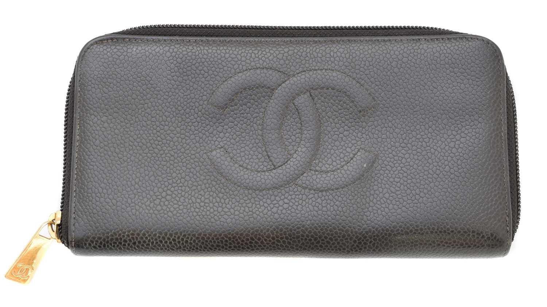 Lot 81 - A Chanel Long Zippy Wallet