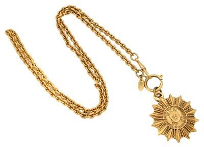 Lot 19-A Chanel pendant necklace