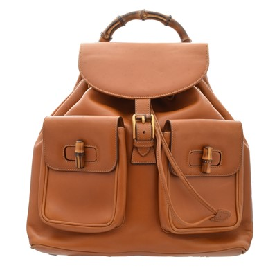 Lot 23-A Gucci Bamboo Backpack
