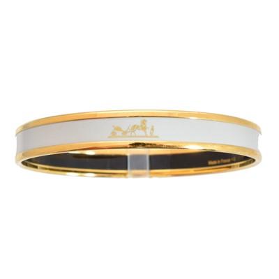 Lot 29-A Hermès enamel bangle bracelet