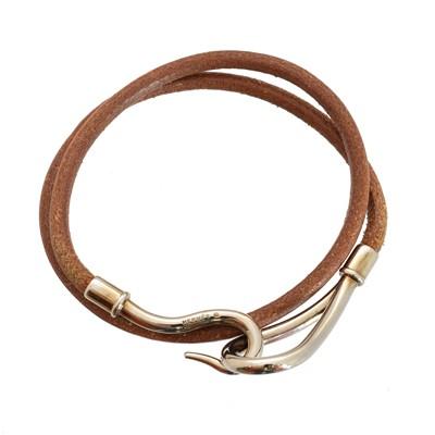 Lot 41-A Hermes Jumbo Double Tour bracelet