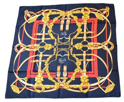 "Lot 95 - A Hermès ""Grand Manege"" silk scarf by Henri d'Origny"