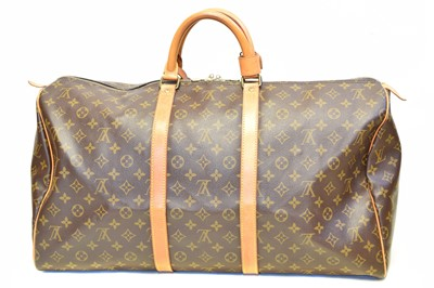 Lot 46-A Louis Vuitton monogram Keepall 55 luggage bag