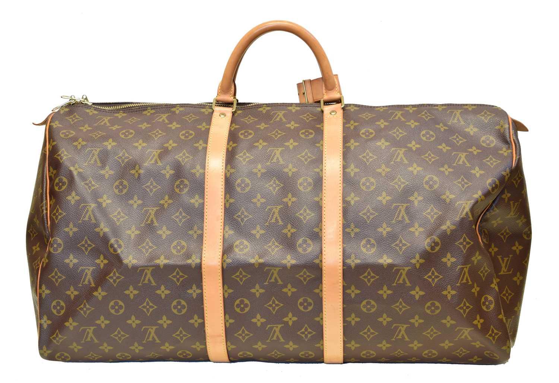 Lot 47-A Louis Vuitton monogram Keepall 60 luggage bag