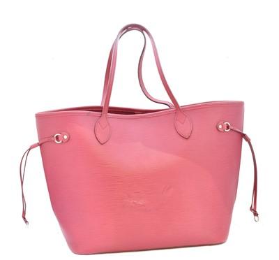 Lot 15-A Louis Vuitton Cerise Epi Neverfull MM handbag