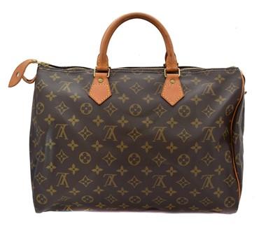 Lot 42-A Louis Vuitton monogram Speedy 35 handbag
