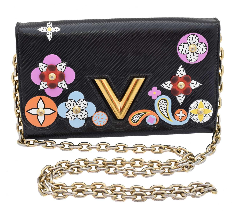 Lot 85 - A Louis Vuitton Twist Blossom Edition Wallet on Chain Shoulder Bag
