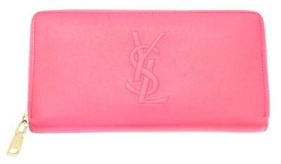 Lot 11-A Yves Saint Laurent zip around logo wallet