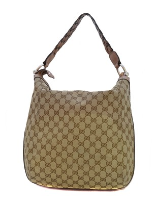 Lot 36-A Gucci Bamboo Bar Hobo Shoulder Bag